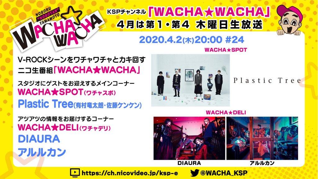 4月2日(木)20:00~ニコニコ生放送 KSPチャンネル『WACHA★WACHA』コメント出演決定!